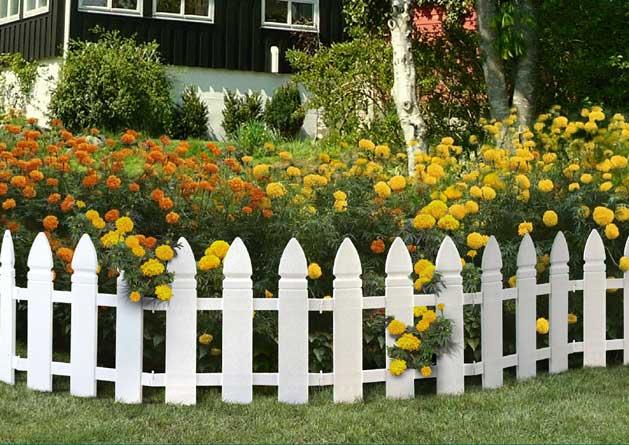 Заборчики для цветников своими руками фото