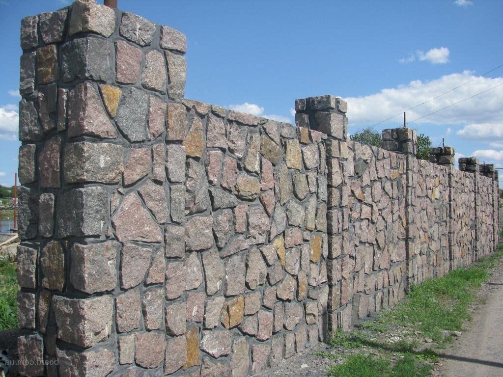 Забор из камней своими руками фото 61