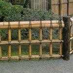 Декоративный бамбуковый заборчик