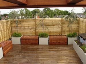 Декоративный забор из бамбукового материала