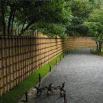 Заостренный забор из бамбука