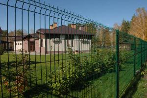 3D забор на дачном участке