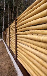 Постоянное ограждение возведенное из бамбука
