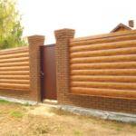 забор из бруса классический