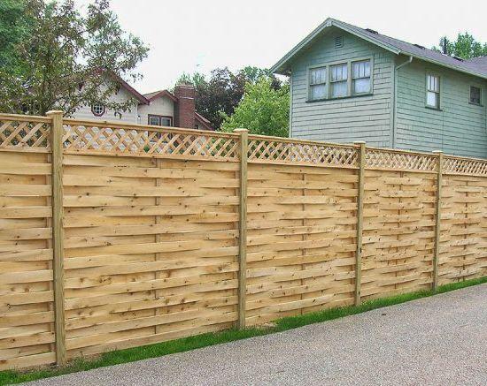 Забор вертикальный плетеный из досок своими руками