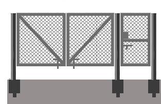 Ворота из сетки рабица своими руками