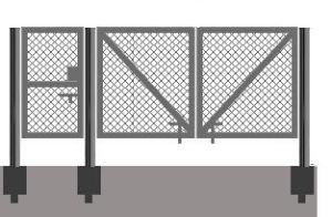 Пример изготовления ворот и калитки из рабицы