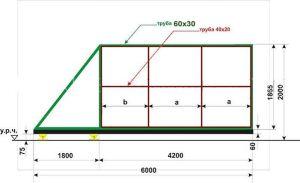 Схема для расчета материала