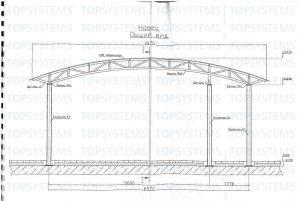 Эскиз для возведения конструкции