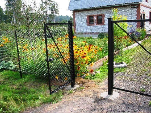 Из чего сварить ворота для дачи ворота профнастил чертеж