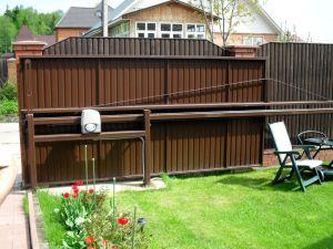 Готовые откатные ворота со средней балкой