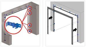 Правила самостоятельной установки автоматических секционных ворот