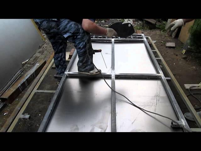 Изготовление металлических дверей своими руками видео