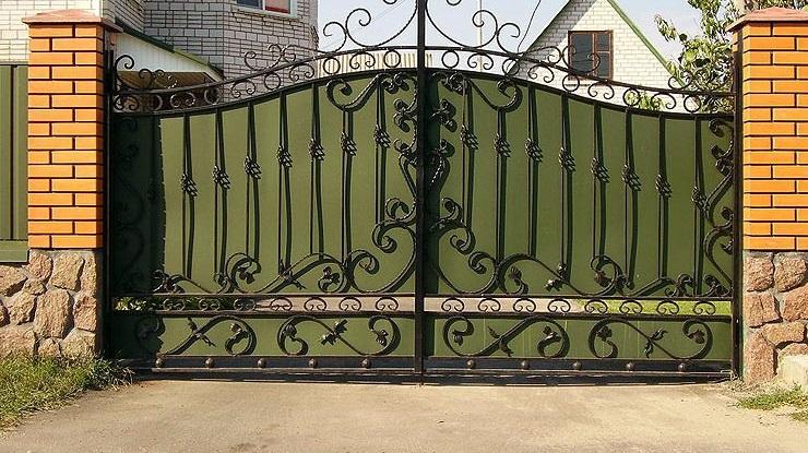 Ворота кованые изготовление своими руками