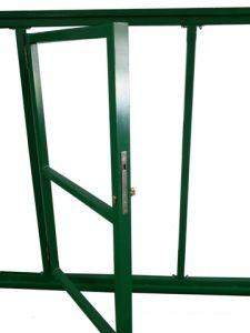 Откатные ворота с калиткой