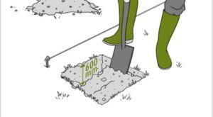 Эскиз разметки и глубины приямка для опорного элемента ограждения