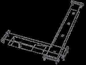 Схема разметки территории под ленточный фундамент кованого ограждения