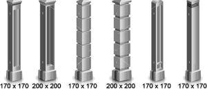 Виды бетонных столбов для забора
