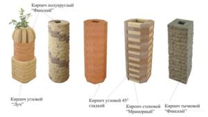Виды декоративного материала для создания опорных столбов