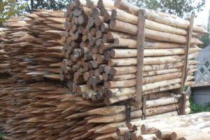 Деревянные опорные элементы для оградительных сооружений