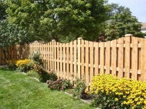 Один из видов деревянных конструкций ограждений
