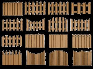 Варианты деревянных ограждений из штакетника