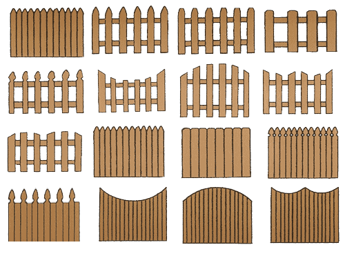 Забор из бумаги для поделки своими руками 61