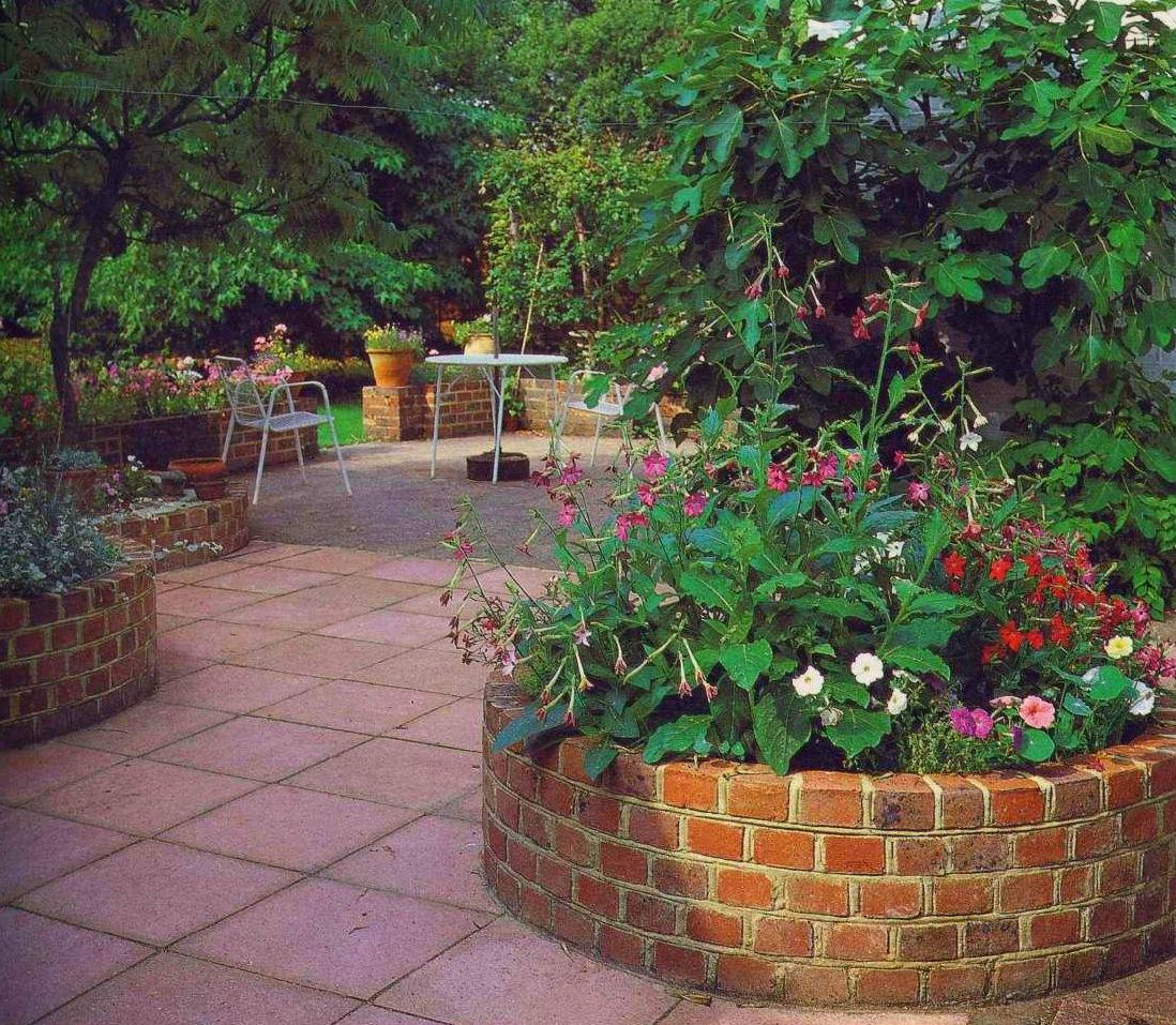 Чем огородить цветы на даче фото