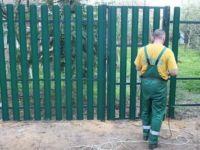 Калитка из евроштакетника: выбор и установка с воротами