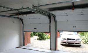 Вид подъемно-секционной конструкции для гаражных въездных проемов