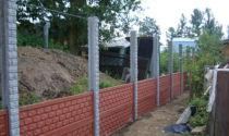 Декоративные заборы из бетона в виде панелей