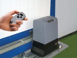 Изображение работы электрического привода откатных конструкций от пульта