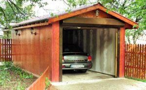 Допустимое расположение гаража по отношению к ограждению