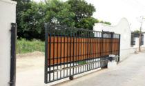 Откатные ворота по уголку на колесах
