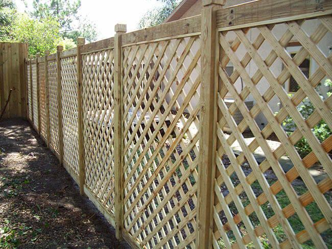Забор решетка деревянный своими руками