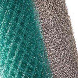 Оцинкованная и покрытая полимерами сетка для ограждения участка