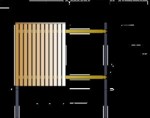 Схема с указанием элементов ограждения из деревянного штакетника