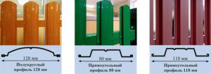 Разновидности евроштакетника применяемого для обшивки калиток и ворот