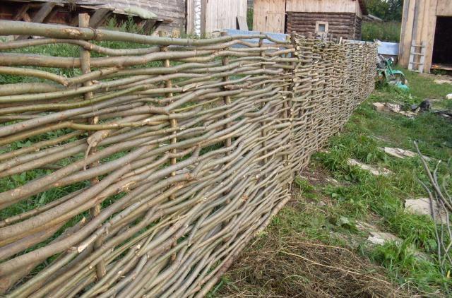 забор плетенка из веток купить