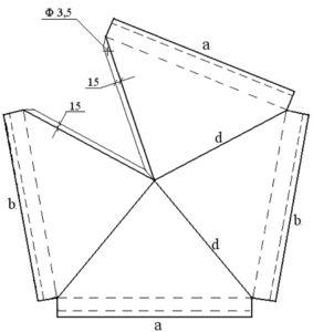 Схема для самостоятельного изготовления металлического защитного изделия