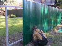 Забор из металлопрофиля: конструкция