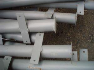 Круглые металлические стойки для ограждений из профнастила