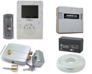 Все необходимые составляющие для контроля доступа через домофон и электромеханический замок уличной двери