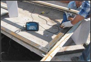 Подготовка деталей металлической двери к сварочным работам