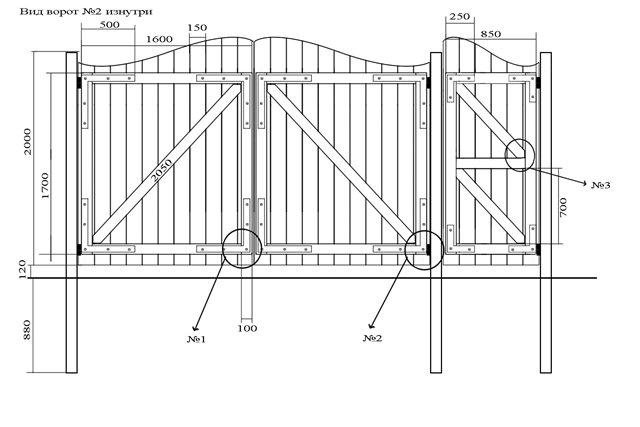Как сделать деревянные ворота на гараж своими руками видео