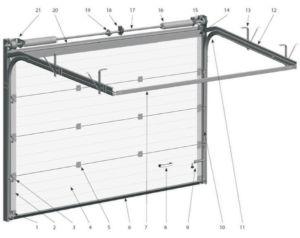 Схема установки подъемных конструкций с указанием всех креплений