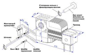 Стандартная комплектация осевого привода