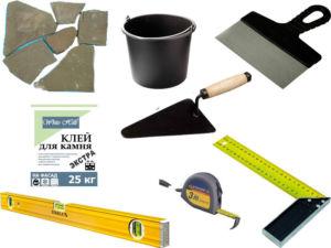 Инструменты и материал для осуществления облицовки забора