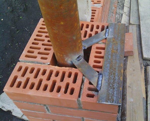 Как сделать столбы из кирпича фото 599