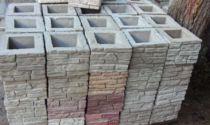Столбы для забора из декоративных блоков: бетонных